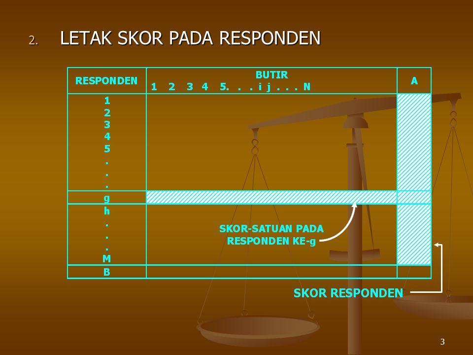 3 2. LETAK SKOR PADA RESPONDEN