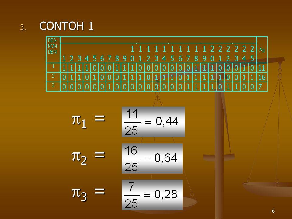 6 3. CONTOH 1 1=1=1=1= 2=2=2=2= 3=3=3=3=
