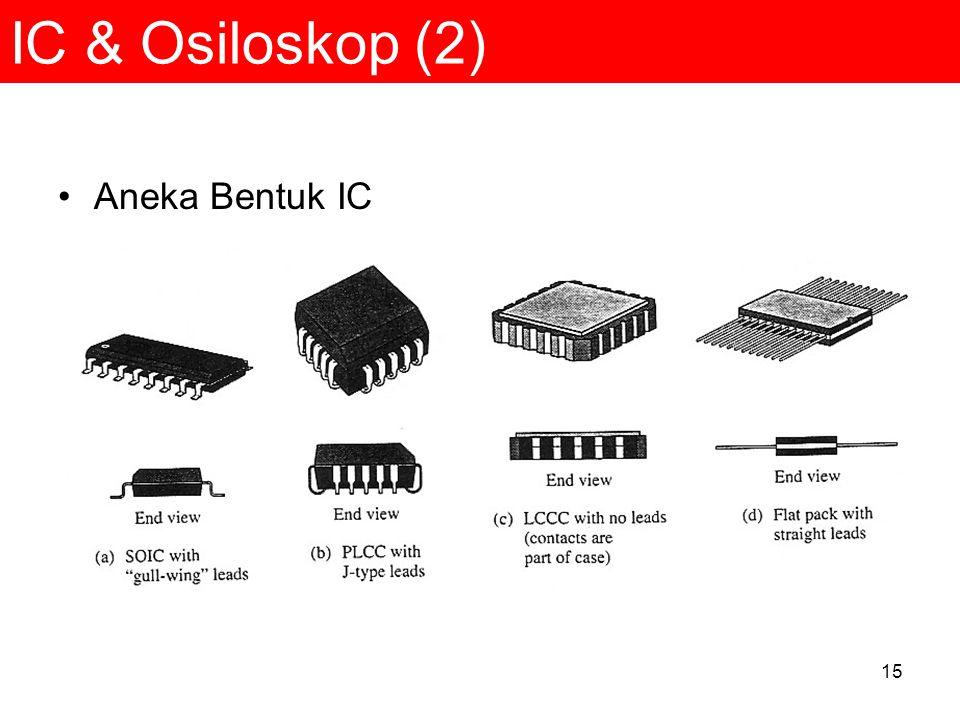 15 IC & Osiloskop (2) Aneka Bentuk IC