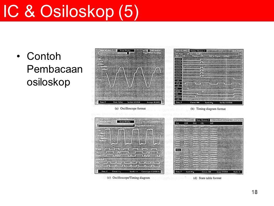 18 IC & Osiloskop (5) Contoh Pembacaan osiloskop