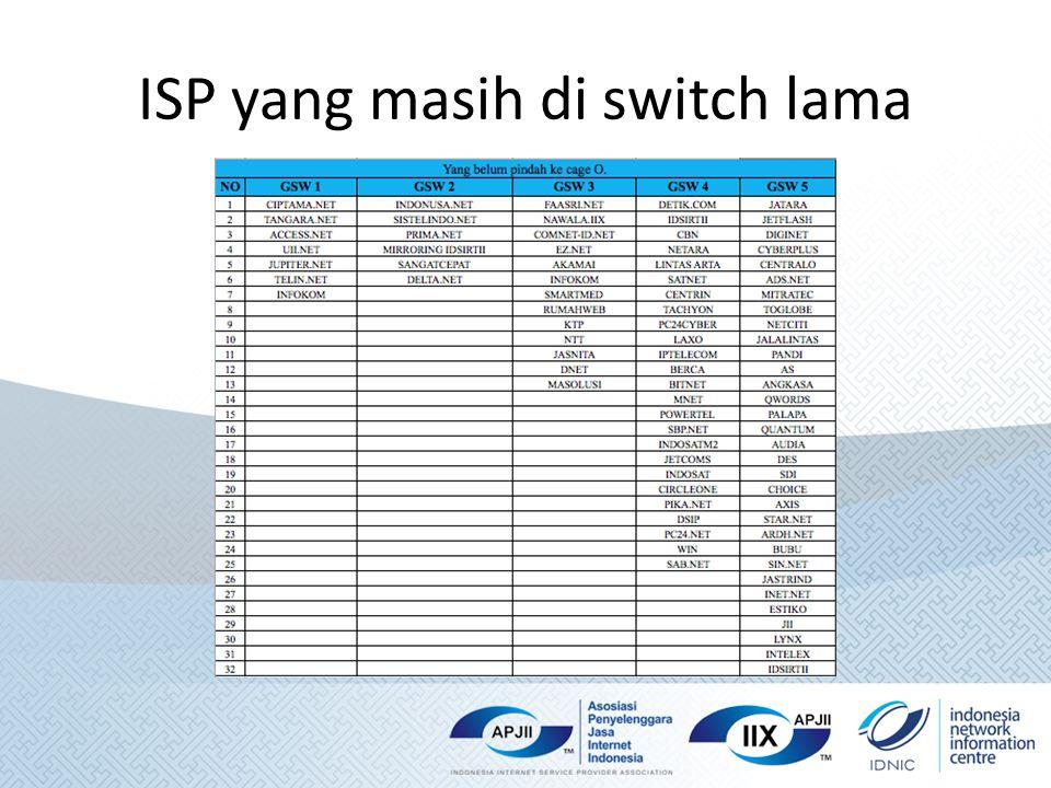 ISP yang masih di switch lama