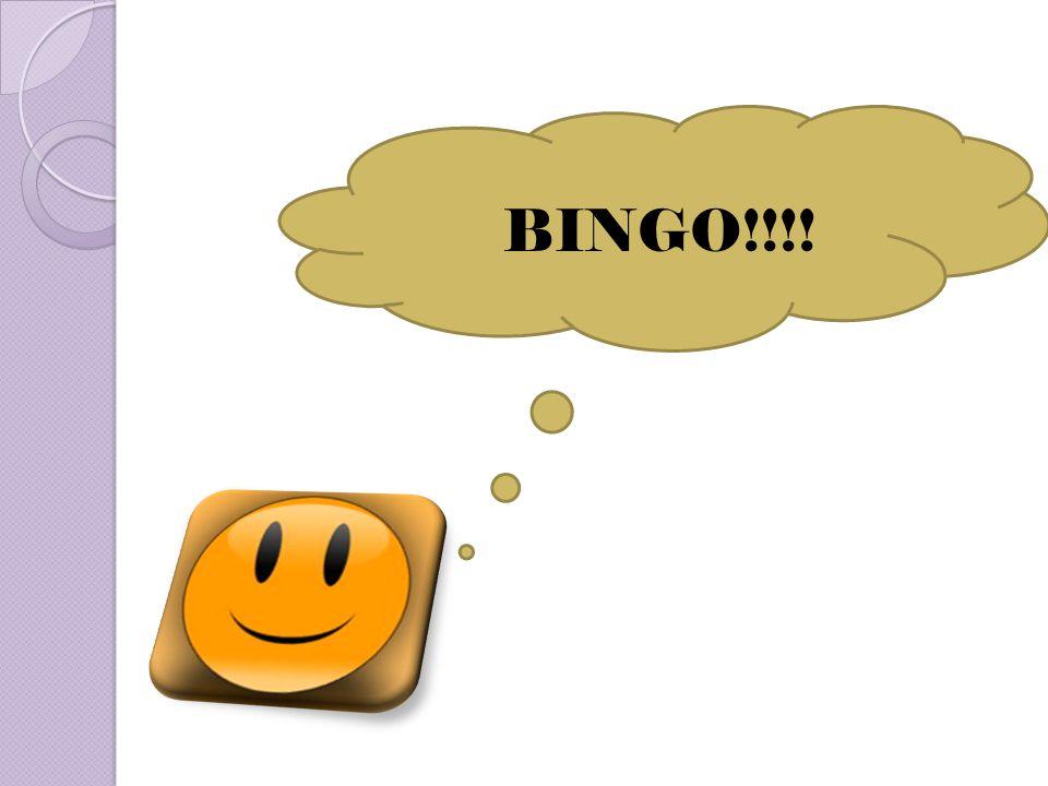 BINGO!!!!