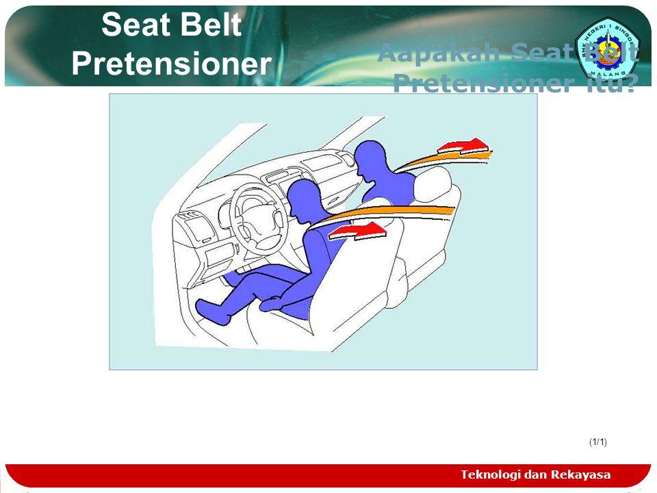Teknologi dan Rekayasa (1/1) Seat Belt Pretensioner Aapakah Seat Belt Pretensioner itu?