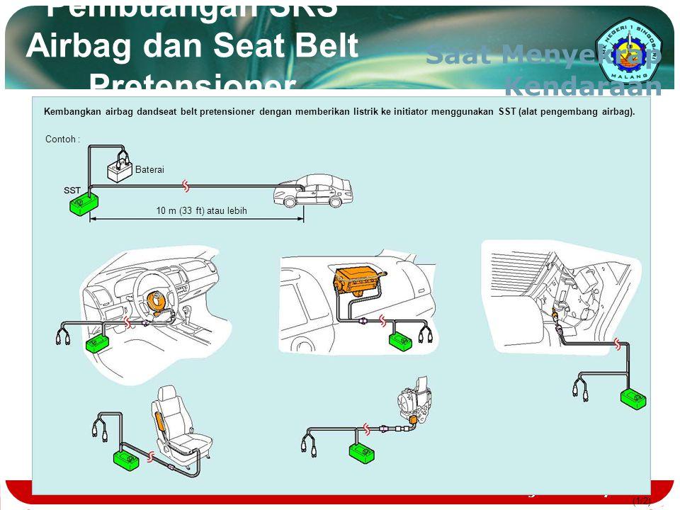 Teknologi dan Rekayasa (1/1) Pembuangan SRS Airbag dan Seat Belt Pretensioner Saat Menyekrap Kendaraan Kembangkan airbag dandseat belt pretensioner de
