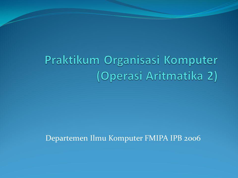 Departemen Ilmu Komputer FMIPA IPB 2006