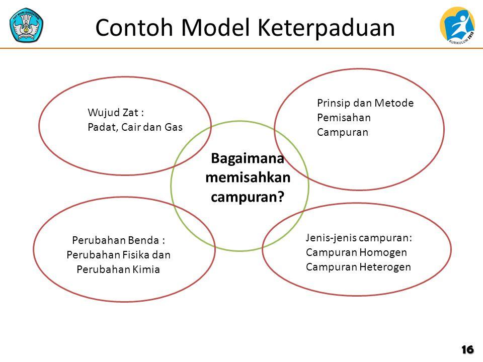 Contoh Model Keterpaduan 16 Wujud Zat : Padat, Cair dan Gas Bagaimana memisahkan campuran? Prinsip dan Metode Pemisahan Campuran Jenis-jenis campuran:
