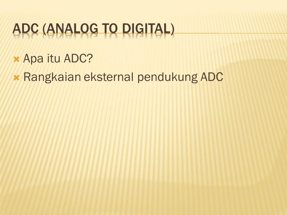  Apa itu ADC?  Rangkaian eksternal pendukung ADC