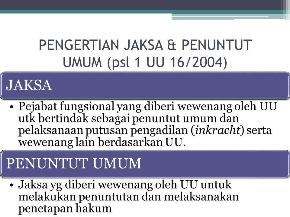  PASAL 10 AYAT 2 UNDANG-UNDANG NOMOR 16 TAHUN 2004 TENTANG KEJAKSAAN REPUBLIK INDONESIA