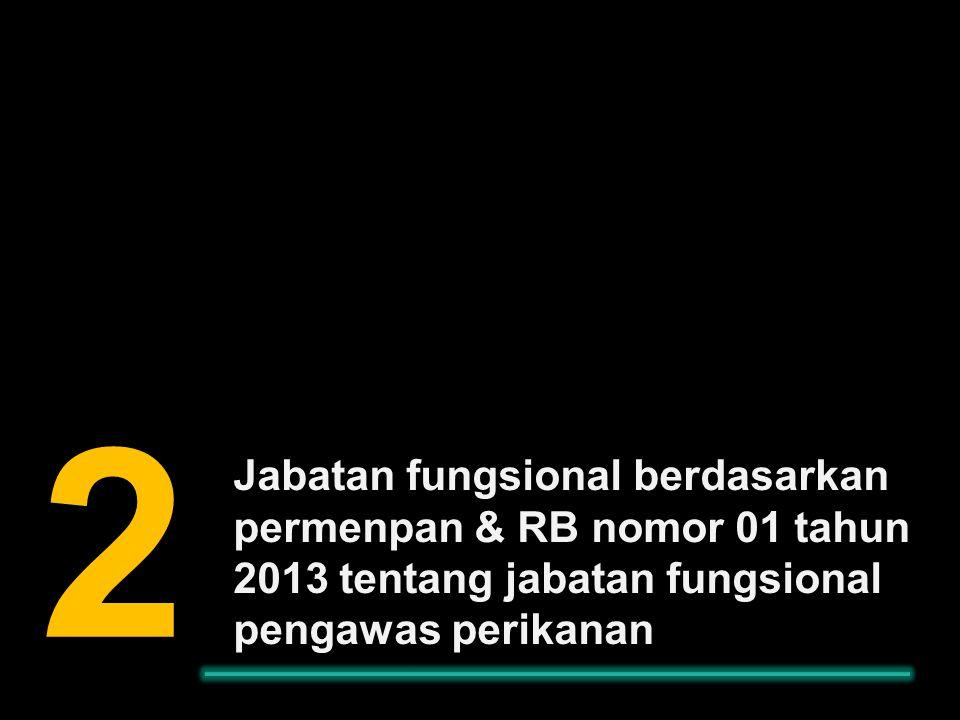 Jabatan fungsional berdasarkan permenpan & RB nomor 01 tahun 2013 tentang jabatan fungsional pengawas perikanan 2.2.2.2.