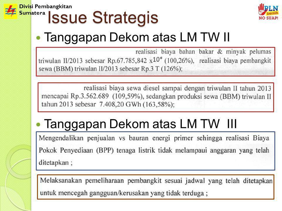 Divisi Pembangkitan Sumatera Issue Strategis Tanggapan Dekom atas LM TW II Tanggapan Dekom atas LM TW III