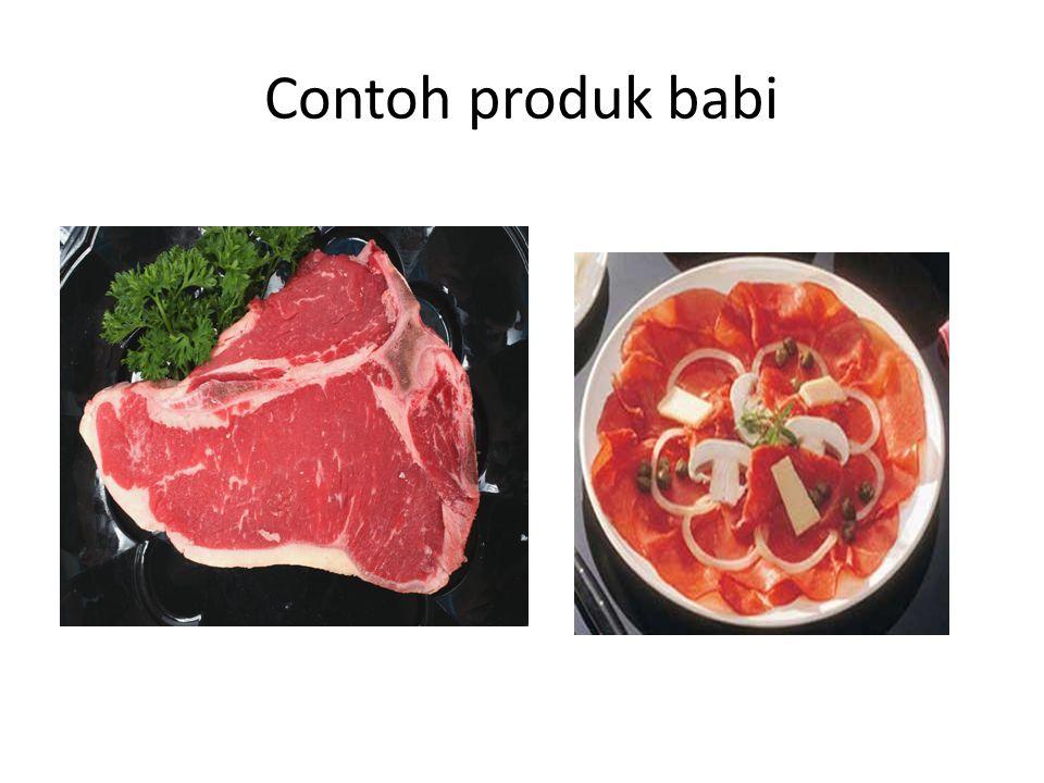Contoh produk babi