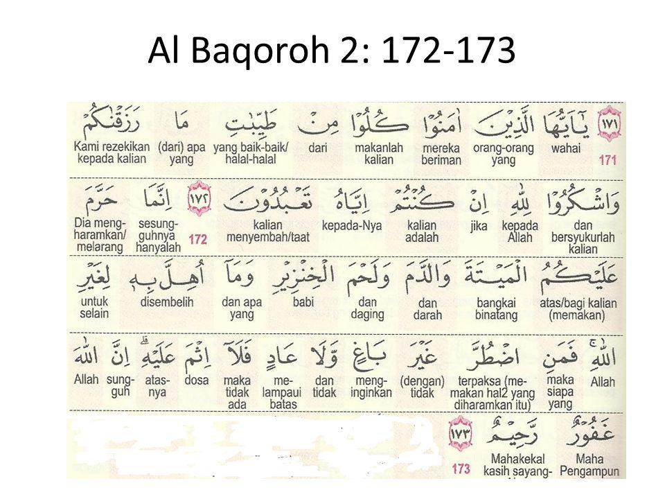 Al Baqoroh 2: 172-173