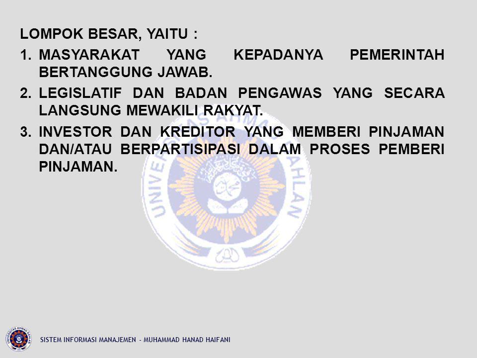 4.BANK DAN MASYARAKAT SEBAGAI KREDITOR PEMERINTAH.