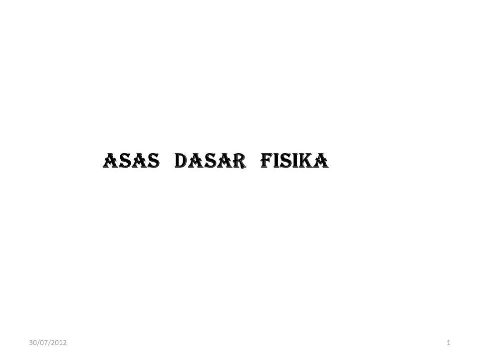 ASAS DASAR FISIKA 30/07/20121
