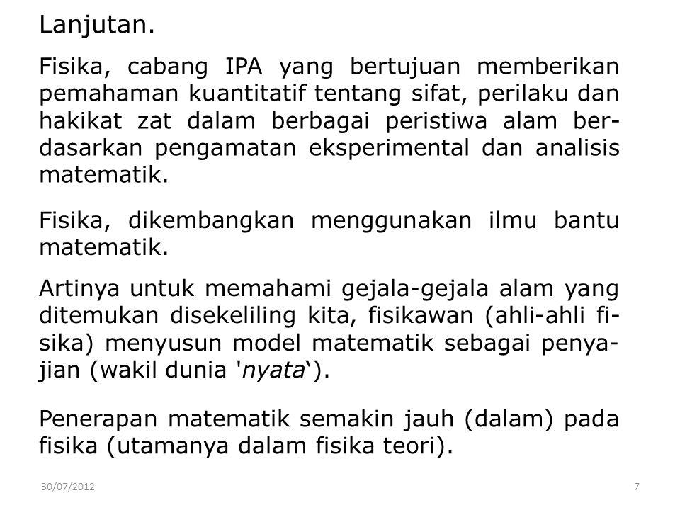 30/07/201218 Metoda Ilmiah.