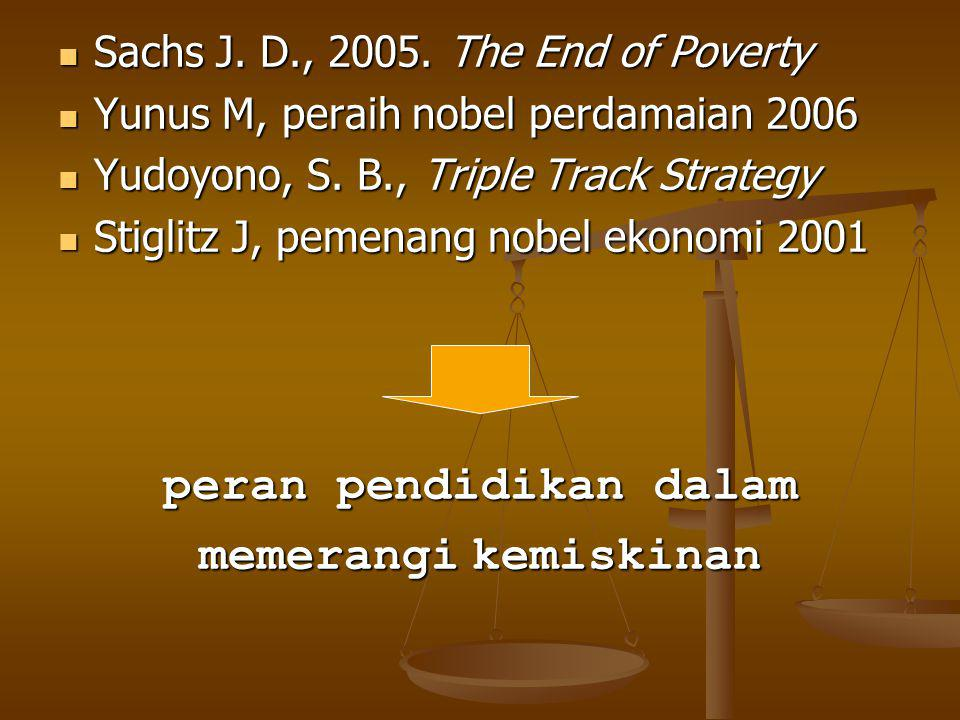 Sachs J.D., 2005. The End of Poverty Sachs J. D., 2005.