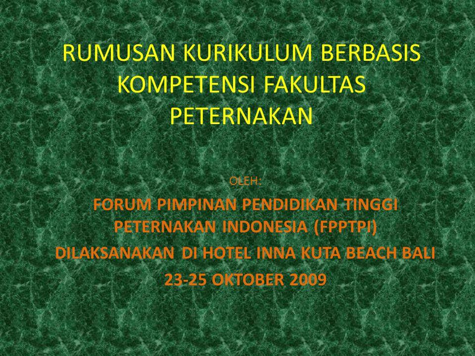 PROFIL SARJANA PETERNAKAN 1.Knowledgeable and Skillful worker (Pekerja Berpengetahuan & Terampil) 2.Manager 3.Entrepreneur