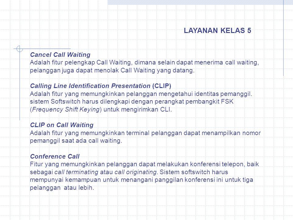 Cancel Call Waiting Adalah fitur pelengkap Call Waiting, dimana selain dapat menerima call waiting, pelanggan juga dapat menolak Call Waiting yang dat