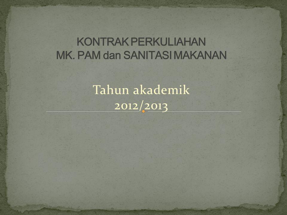 Tahun akademik 2012/2013