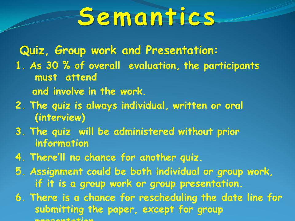 Semantics Penilaian dengan PAP Nilai TotalHuruf Mutu  80 A  66 –  79 B  60 –  65 C  50 –  59 D  49 E