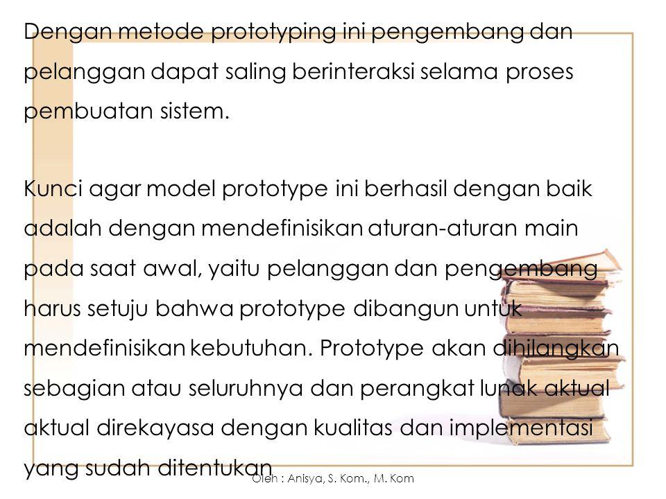 Keuntungan dari Prototyping: End user dapat berpartisipasi aktif.