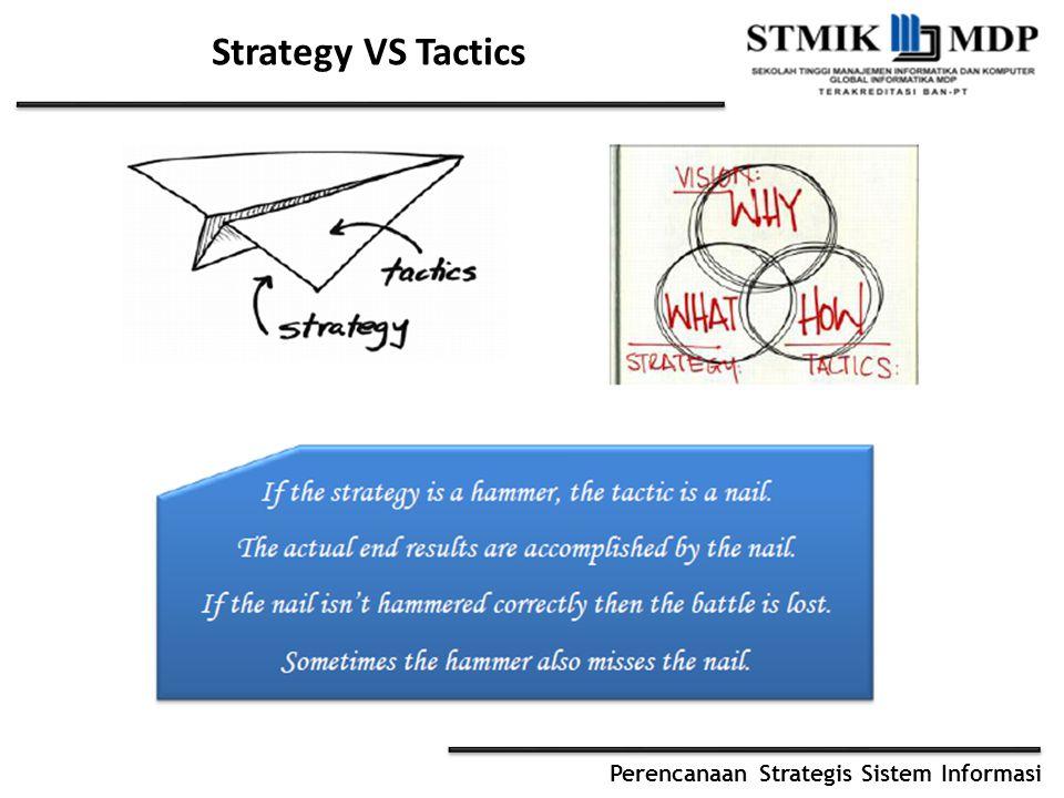 Perencanaan Strategis Sistem Informasi Strategy VS Tactics
