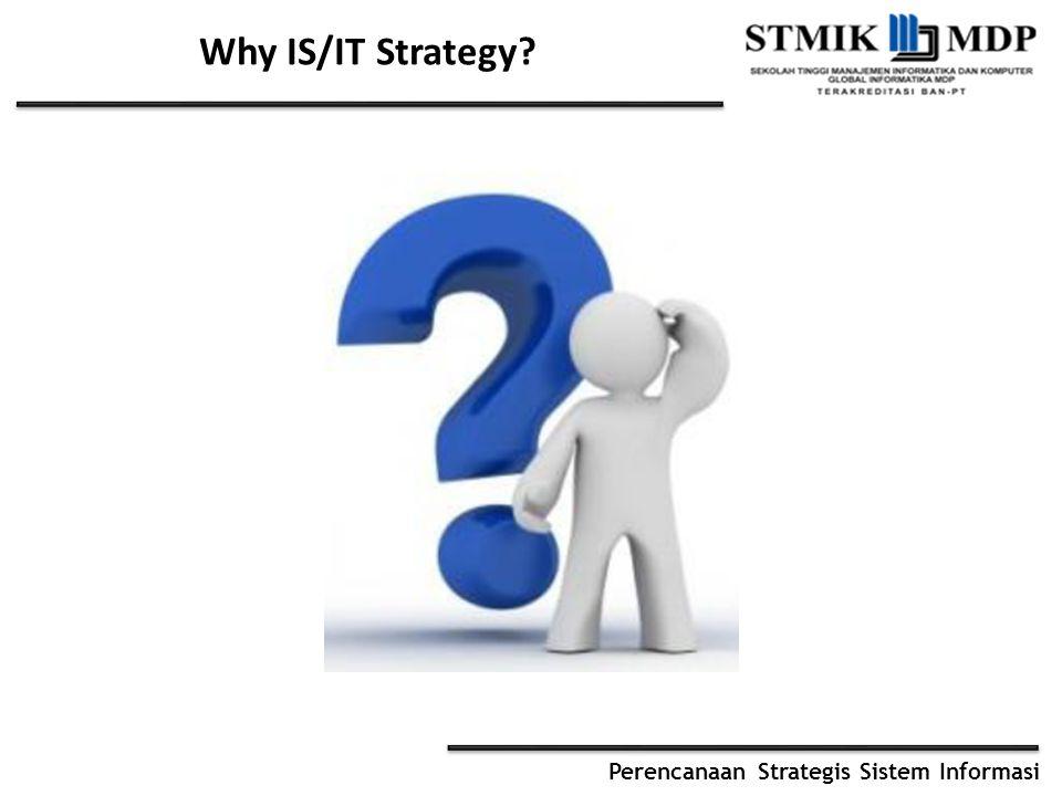 Perencanaan Strategis Sistem Informasi Why IS/IT Strategy?