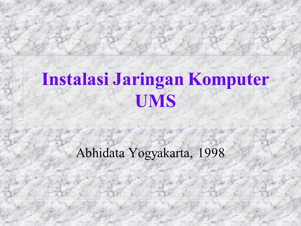 Instalasi Jaringan Komputer UMS Abhidata Yogyakarta, 1998