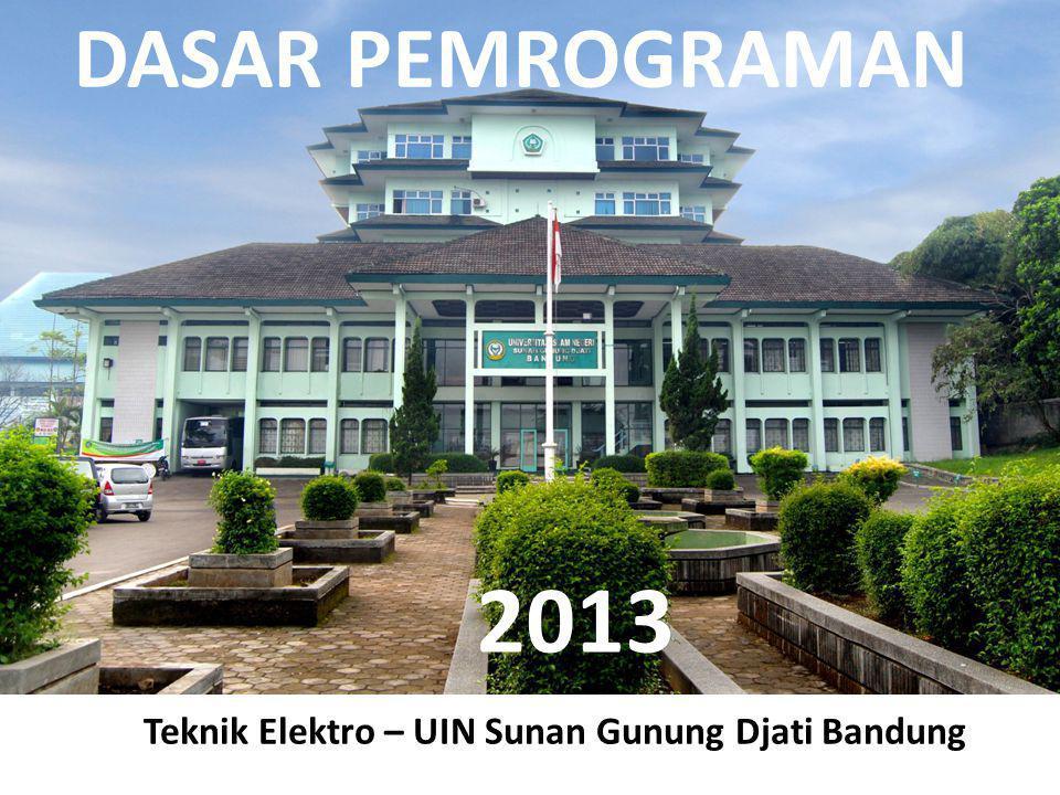 DASAR PEMROGRAMAN Teknik Elektro – UIN Sunan Gunung Djati Bandung 2013