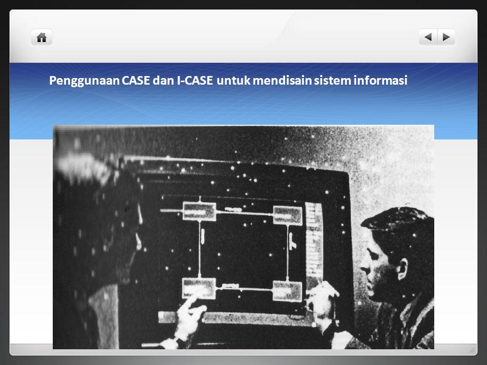 Penggunaan CASE dan I-CASE untuk mendisain sistem informasi
