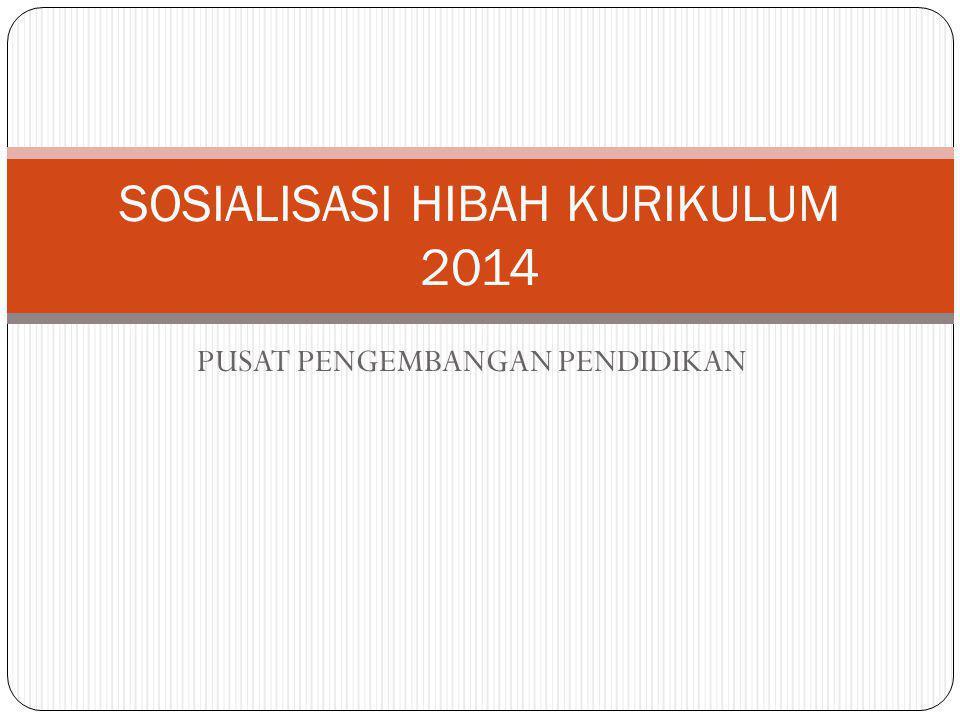PUSAT PENGEMBANGAN PENDIDIKAN SOSIALISASI HIBAH KURIKULUM 2014