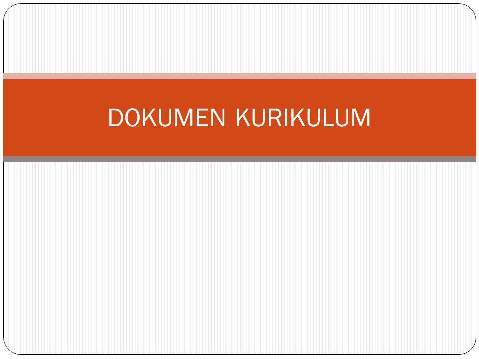 DOKUMEN KURIKULUM