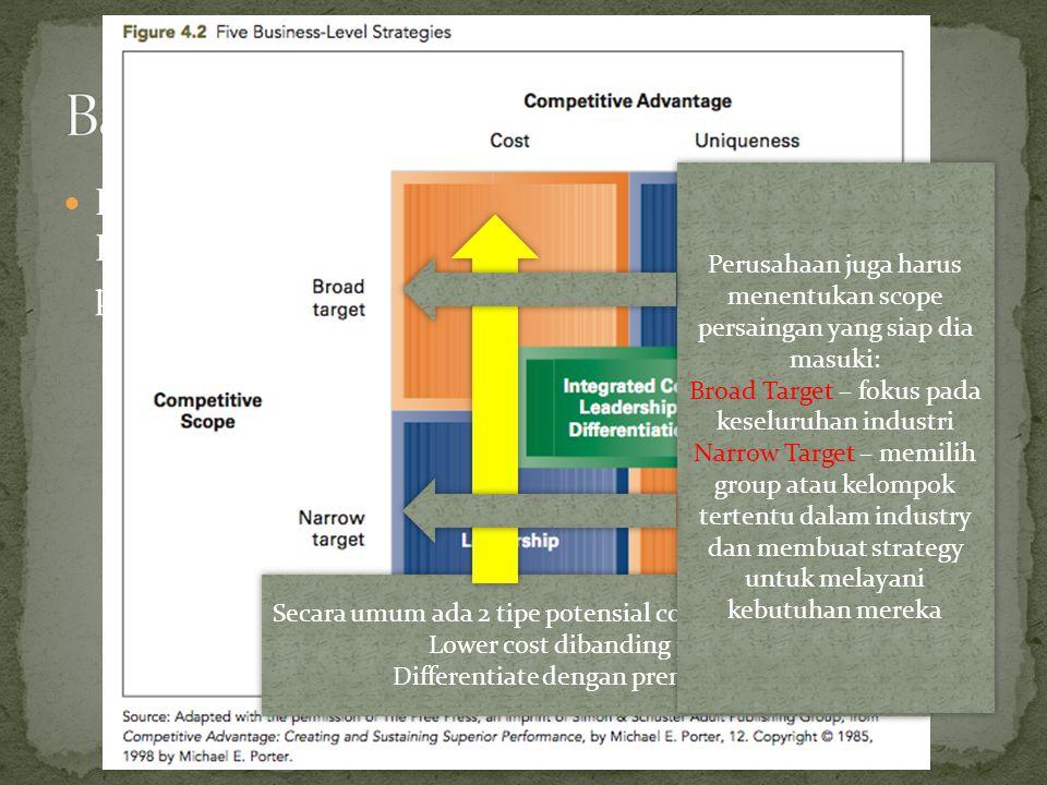 Dengan menggunakan pendekatan Generic Porter, Hitt et al.