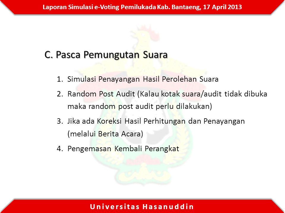 Laporan Simulasi e-Voting Pemilukada Kab.