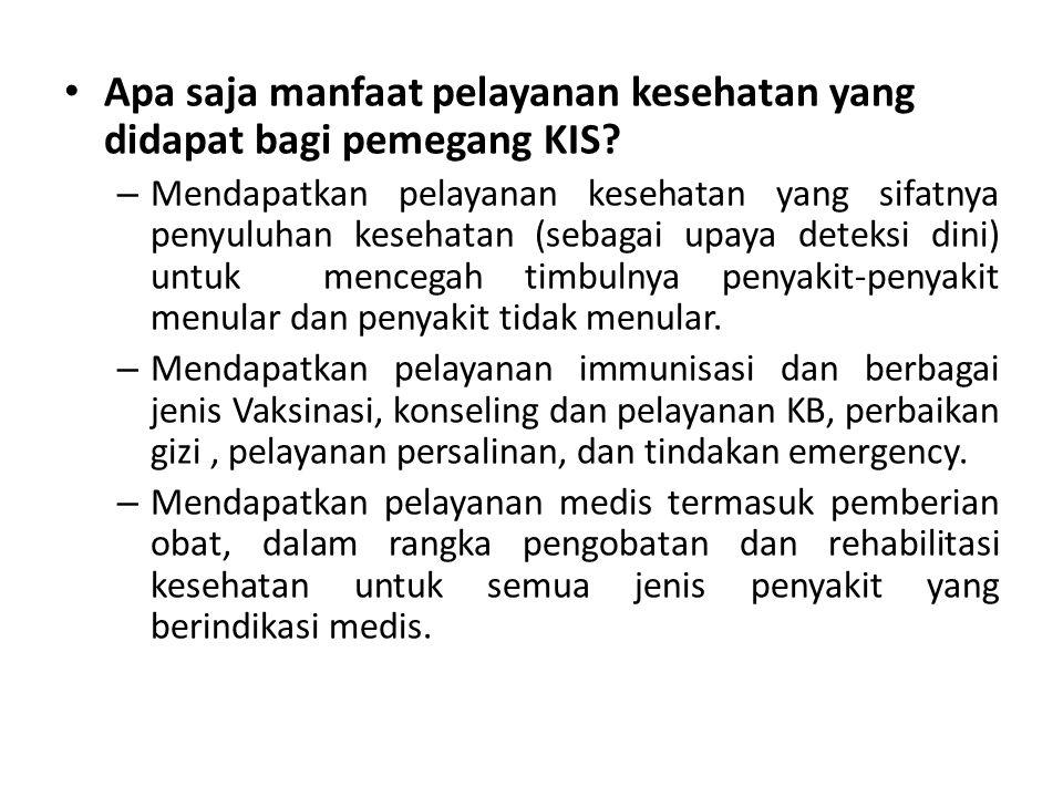Apa persamaan dan perbedaan antara JKN dengan KIS.