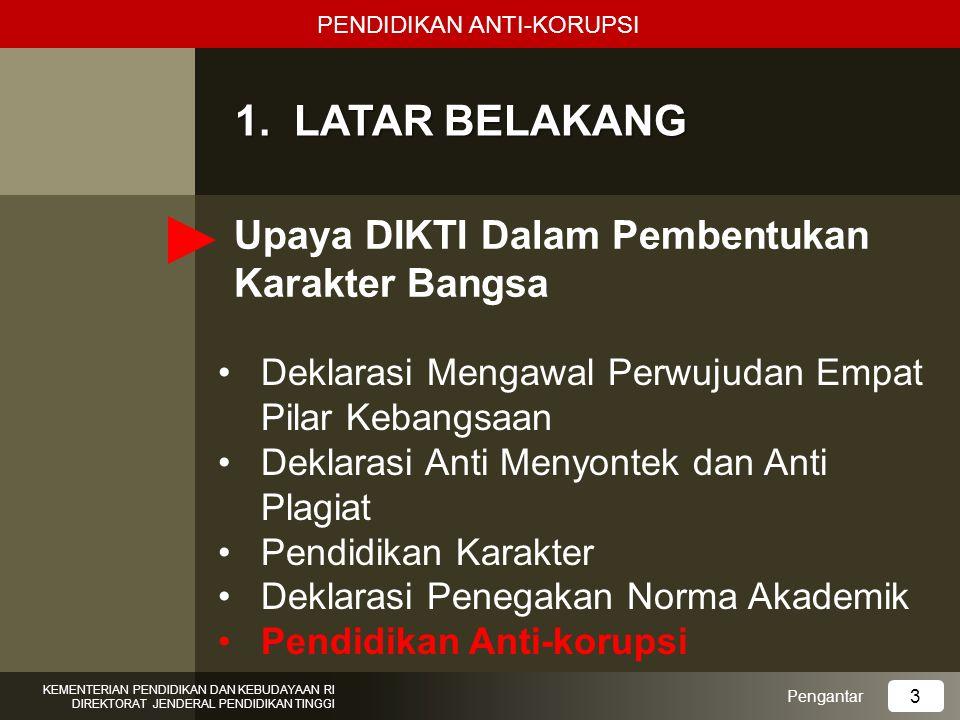 Korupsi di Indonesia Korupsi adalah kejahatan luar biasa (extra ordinary crime) dengan dampak buruk yang luar biasa pula.