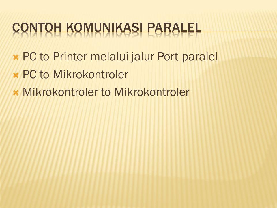  Menggunakan port paralel  Menggunakan PPI 8255