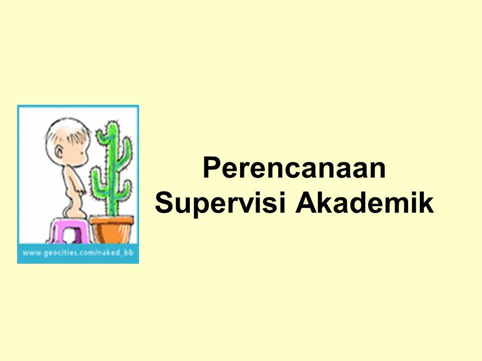 Perencanaan Supervisi Akademik