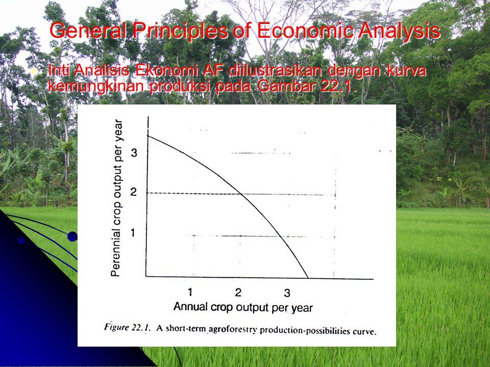 General Principles of Economic Analysis Inti Analisis Ekonomi AF diilustrasikan dengan kurva kemungkinan produksi pada Gambar 22.1. Inti Analisis Ekon