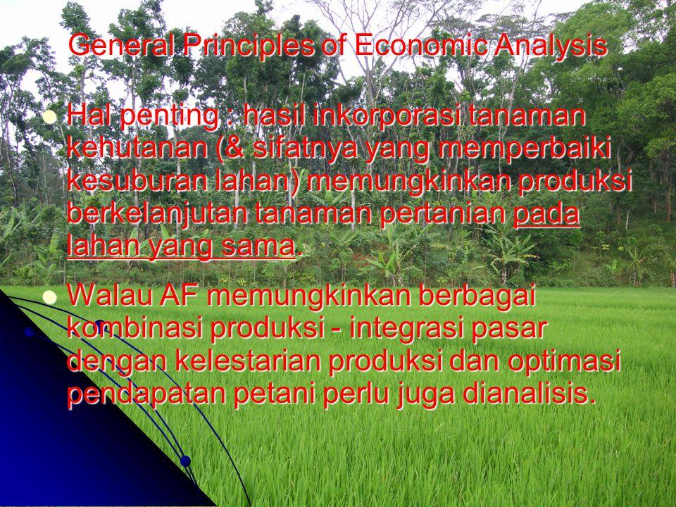 Hal penting : hasil inkorporasi tanaman kehutanan (& sifatnya yang memperbaiki kesuburan lahan) memungkinkan produksi berkelanjutan tanaman pertanian