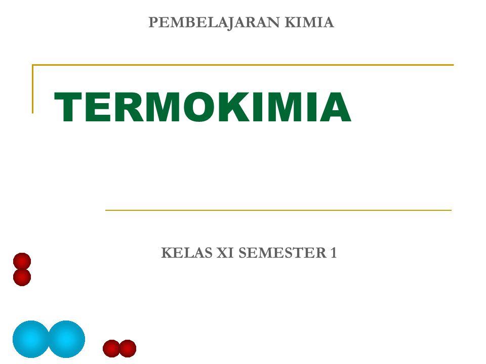 TERMOKIMIA KELAS XI SEMESTER 1 PEMBELAJARAN KIMIA