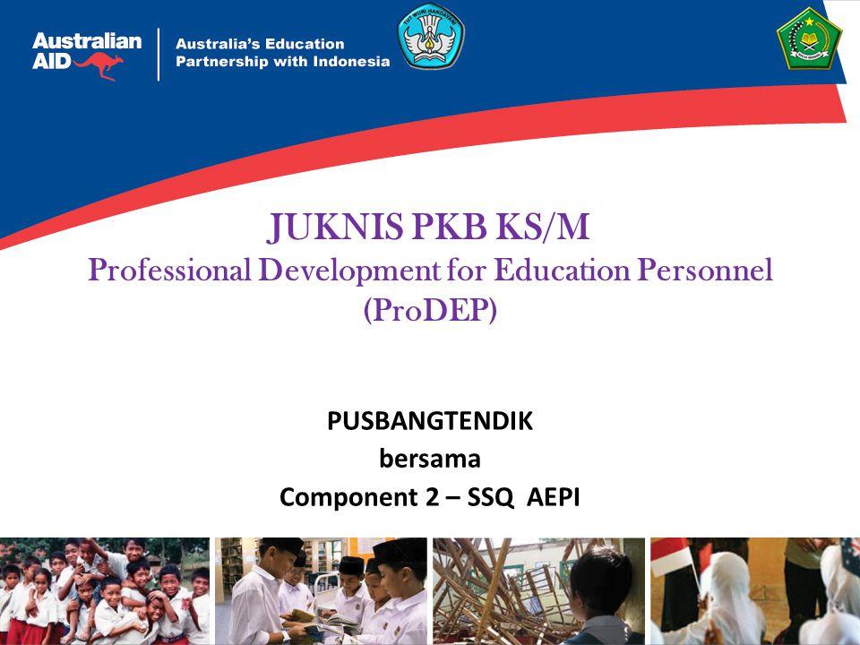 JUKNIS PKB KS/M Professional Development for Education Personnel (ProDEP) PUSBANGTENDIK bersama Component 2 – SSQ AEPI