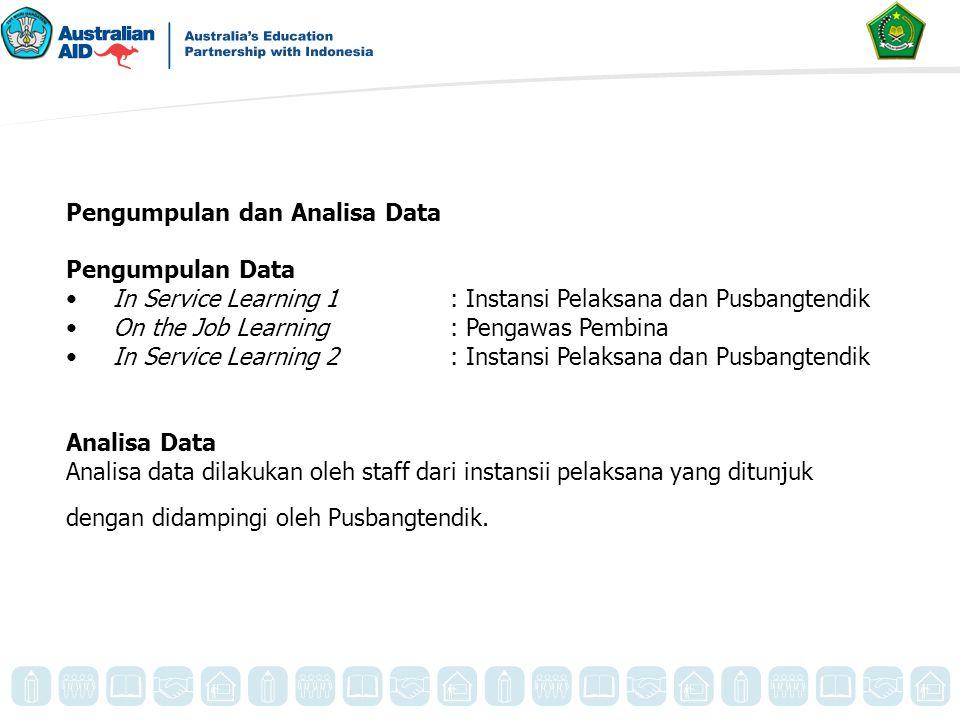 Pengumpulan dan Analisa Data Pengumpulan Data In Service Learning 1 : Instansi Pelaksana dan Pusbangtendik On the Job Learning: Pengawas Pembina In Se