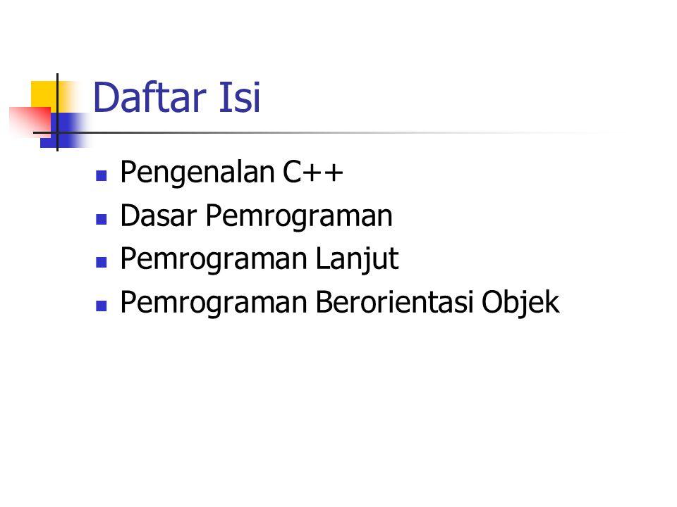 Pemrograman Lanjut Array Menyimpan kumpulan data yang sejenis Dim Nomor (9) As Integer Prosedur dan Subrutin Prosedur : segmen kode program Subrutin : Blok untuk melaksanakan sebuah tugas Fungsi Subrutin yang mengembalikan nilai Pemrograman berorientasi Objek ADO.NET Mendukung berbagai aksi pada basis data