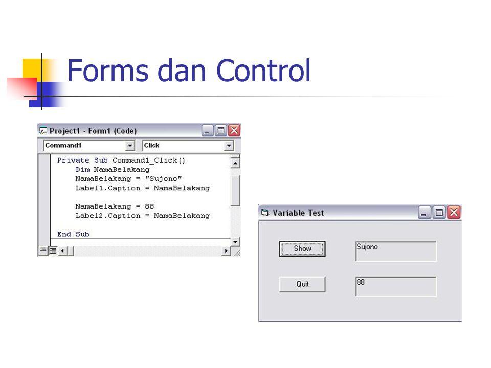 Forms dan Control