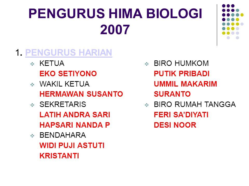 PENGURUS HIMA BIOLOGI 2007 1.
