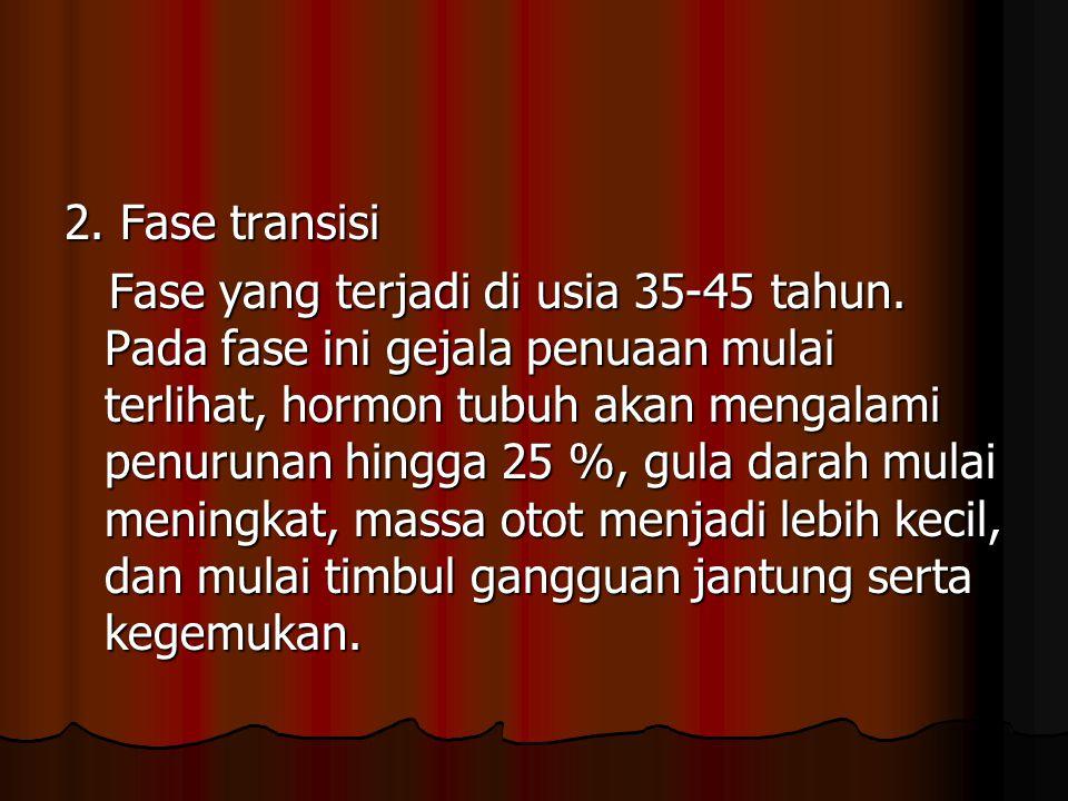 3.Fase klinis Fase yang terjadi di usia >45 tahun.