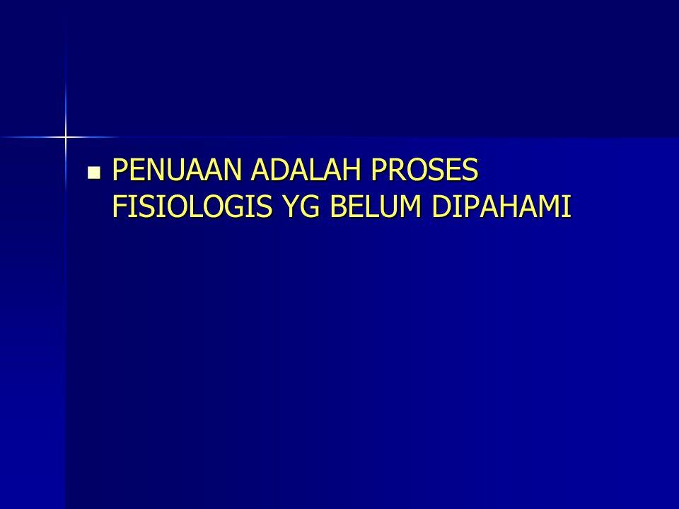 PENUAAN ADALAH PROSES FISIOLOGIS YG BELUM DIPAHAMI PENUAAN ADALAH PROSES FISIOLOGIS YG BELUM DIPAHAMI