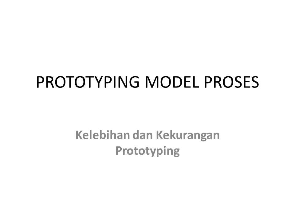 PROTOTYPING MODEL PROSES Kelebihan dan Kekurangan Prototyping