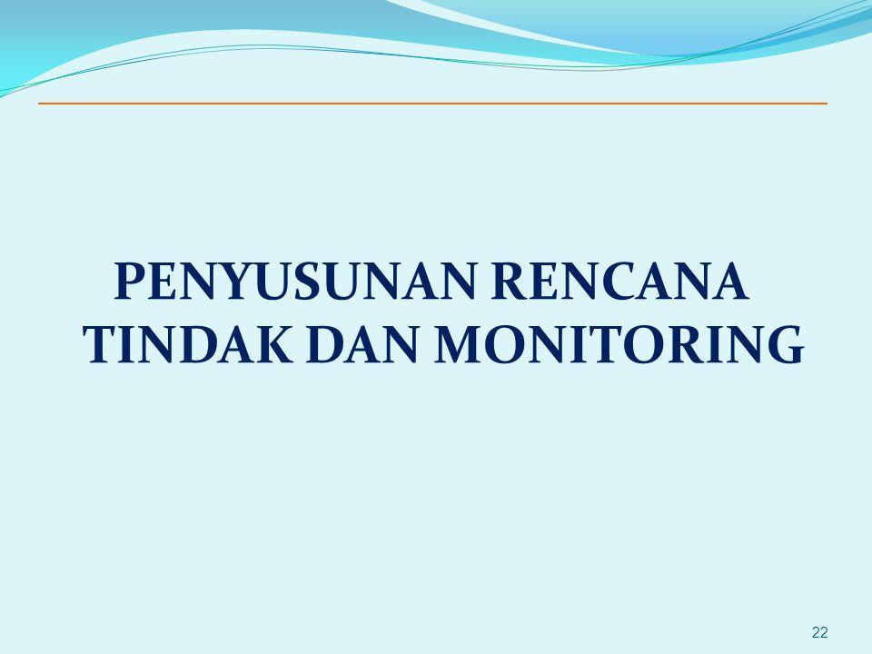 PENYUSUNAN RENCANA TINDAK DAN MONITORING 22
